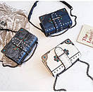Брендовые женские сумки цепочка через плечо стиль винтаж с заклепками, фото 9