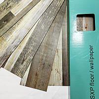 Ламинат гибкий самоклеющийся Напольное покрытие на клею Клейкая ПВХ плитка на пол Мозаика 5 м.кв. упаковка