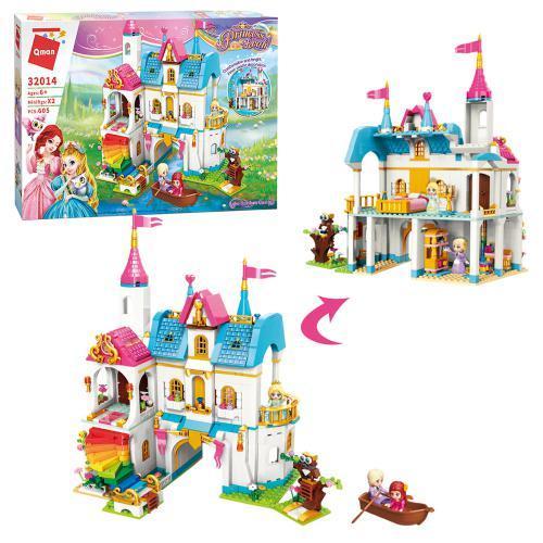 КОНСТРУКТОР QMAN 32014 замок принцессы, мебель, фигурки, 605 деталей.