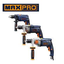 Дрели, дрели ударные, дрели двухскоростные MAX PRO