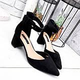 Туфли женские Roza черные 2839, фото 6