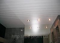 Подвесной потолок Рейка белый