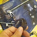 Городская женская сумочка Blue из стильной лазерной натуральной кожи, фото 2
