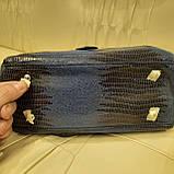 Городская женская сумочка Blue из стильной лазерной натуральной кожи, фото 6