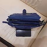 Городская женская сумочка Blue из стильной лазерной натуральной кожи, фото 8