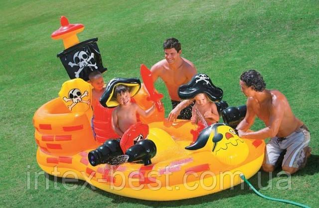 Игровой центр Pirate Hideout для детей Intex 57457 (305x152x163см. )