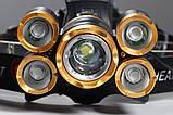 Налобный фонарь с зумом и датчиком движения TRLIFE BL254 + USB шнур для зарядки (4*XPE + 1*T6) Без батареи, фото 5