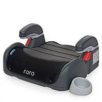 Бустер детский с подлокотником и подстаканником ME 1044 RORO Gray Black детское кресло для авто