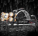 Налобный фонарь с зумом и датчиком движения TRLIFE BL254 + USB шнур для зарядки (4*XPE + 1*T6) Без батареи, фото 9