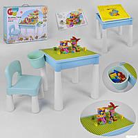 Столик игровой с конструктором 6308 (14/2) 78 деталей, в коробке