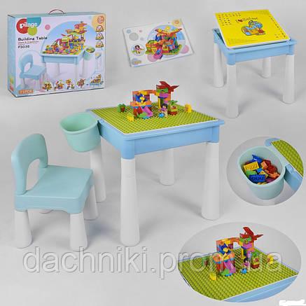 Столик игровой с конструктором 6308 (14/2) 78 деталей, в коробке, фото 2