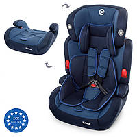 Автокресло детское 2в1 ME 1008 JUNIOR (Blue) детское кресло для авто (9-36 кг).Возраст: от 9 месяцев до 12 лет