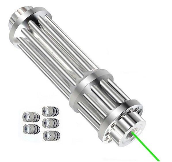 Зеленая лазерная указка высокой мощности с регулируемым фокусом и аккумулятором 1000 метров