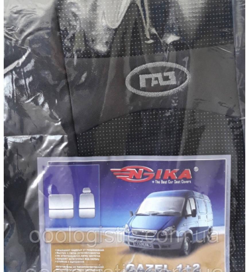 Авточехлы на передние сидения Газель 1+2 Nika
