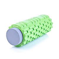 Массажный ролик для йоги и фитнеса Spokey TEEL 2-в-1 33.5 см Зелено-серый КОД: s0383