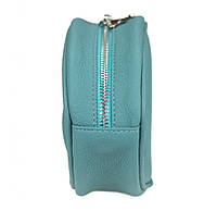 Шкіряна сумка Бананка Valenta Бірюзовий КОД: ВМ6281_11