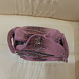 Городская женская сумочка Pink из стильной натуральной кожи, фото 2