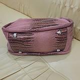 Городская женская сумочка Pink из стильной натуральной кожи, фото 6