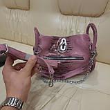 Городская женская сумочка Pink из стильной натуральной кожи, фото 3