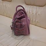 Городская женская сумочка Pink из стильной натуральной кожи, фото 4