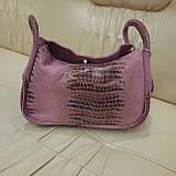 Городская женская сумочка Pink из стильной натуральной кожи, фото 7