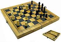 Набор DUKE нарды/шахматы/шашки бамбук КОД: DN18477