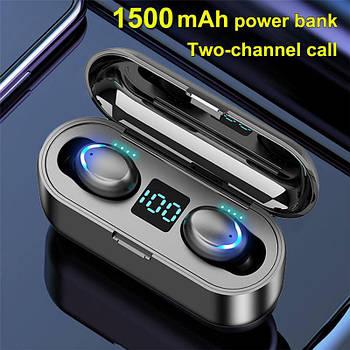 Наушники беспроводные для спорта TWS F9-8 Bluetooth 5.0 Earphones 2200mAh Charging Box Wireless Headphone