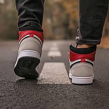 Мужские кроссовки Air Jordan 1 Retro High Light Smoke Grey 555088-126, фото 3