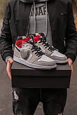 Мужские кроссовки Air Jordan 1 Retro High Light Smoke Grey 555088-126, фото 2