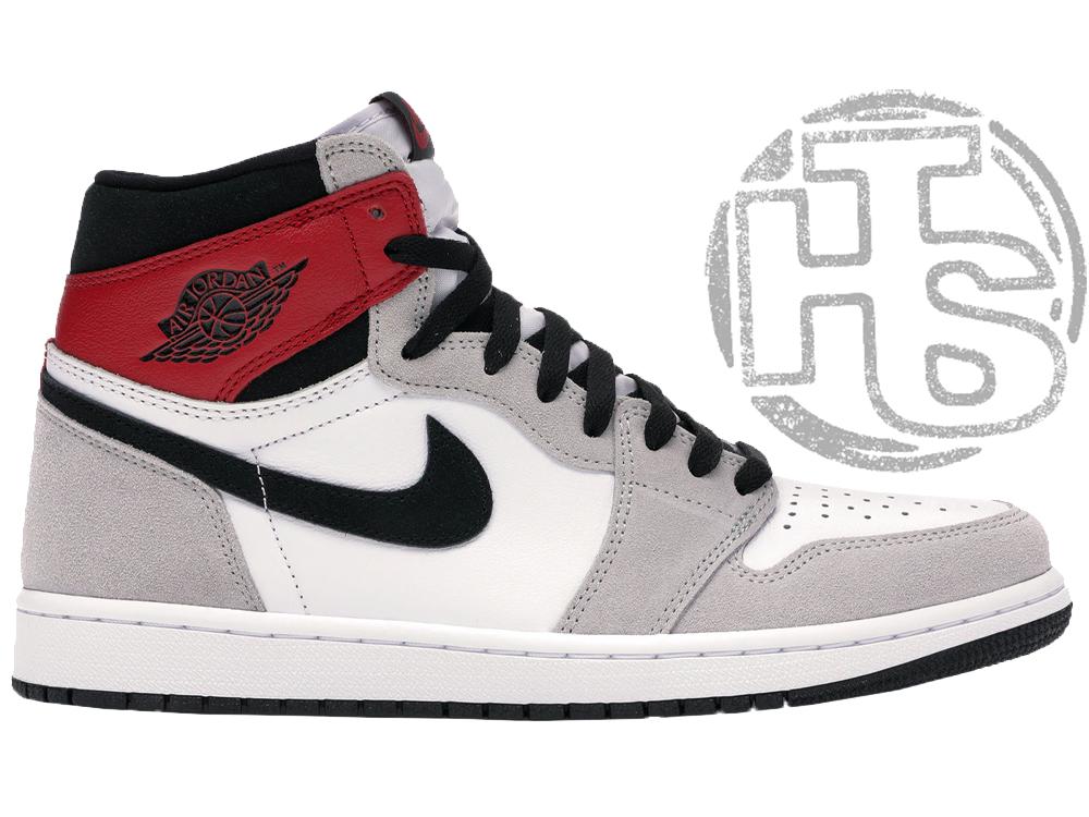 Мужские кроссовки Air Jordan 1 Retro High Light Smoke Grey 555088-126
