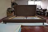 Сучасна ліжко в тканини з м'яким узголів'ям, фото 2