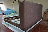 Сучасна ліжко в тканини з м'яким узголів'ям, фото 3