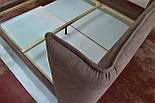 Сучасна ліжко в тканини з м'яким узголів'ям, фото 4