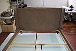 Сучасна ліжко в тканини з м'яким узголів'ям, фото 5