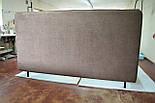 Сучасна ліжко в тканини з м'яким узголів'ям, фото 6