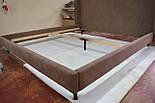 Сучасна ліжко в тканини з м'яким узголів'ям, фото 7
