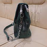 Городская женская сумочка Green из стильной лазерной натуральной кожи, фото 9