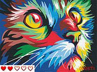 """Картина по номерам """"Строкатий кіт"""""""