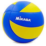 Мяч волейбольный клееный Mikasa MVA-200, фото 2