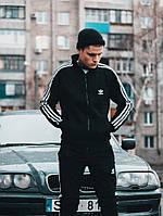 Олимпийка мужская в стиле Adidas Round черная