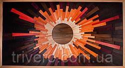 Дизайнерские панно из дерева Солнце
