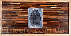 Картина панно из дерева отпечаток пальца