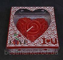Святкові Свічки у Формі Сердечко Троянда Романтика День Святого Валентина