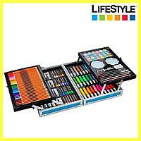 Художній набір для творчості 145 предметів / Набір для малювання у валізі