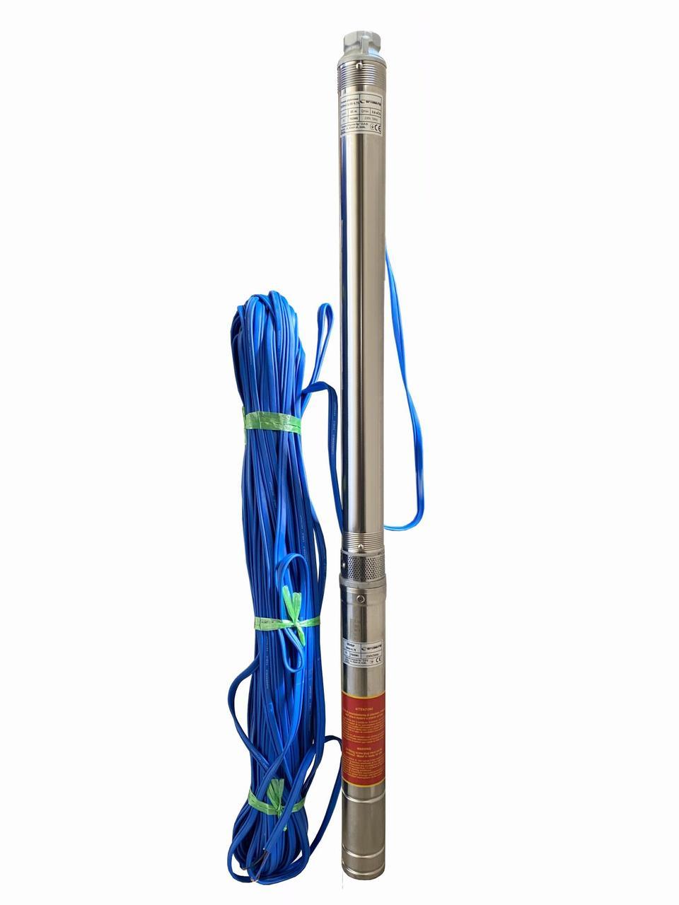 Насос скважинный центробежный Optima PM 3SDm2.5/20 0,75 кВт 90 м + 70 м кабель