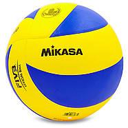 Мяч волейбольный клееный Mikasa MVA-330, фото 3