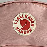 Модная вместительная женская сумка на пояс, бананка канкен Fjallraven Kanken пудра поясная / через плечо, фото 5