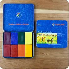 Набор восковых мелков Stockmar Beeswax Crayons 8 шт 204884258, КОД: 1870440