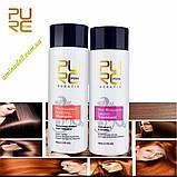 Кератин 5% + шампунь глубокого очищения PURC Keratin Treatment 2*100 ml + Shampoo 2*100ml (набор 2+2)), фото 5
