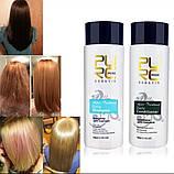 Кератин 5% + шампунь глубокого очищения PURC Keratin Treatment 2*100 ml + Shampoo 2*100ml (набор 2+2)), фото 9